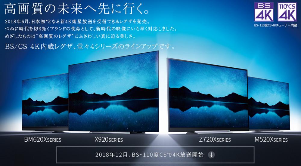 BS/CS 4Kチューナー内蔵 4Kレグザ